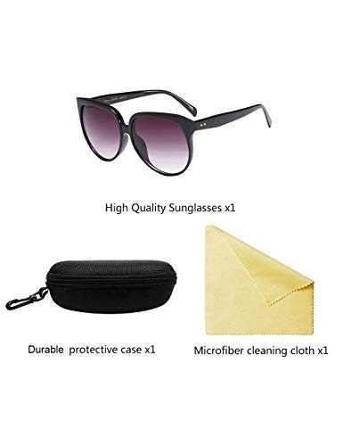 besbomig Occhiali da Sole Oversize Classico per Donna - 7