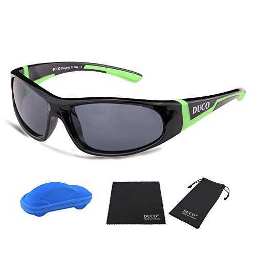 DUCO Kids sport stile polarizzato occhiali da sole in gomma telaio flessibile per ragazzi e ragazze - 2