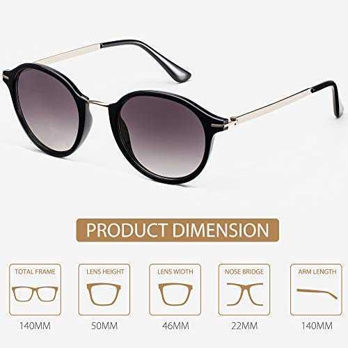 Avoalre Occhiali da Sole Vintage Style Occhiali da Sole 100% UV400 - 4