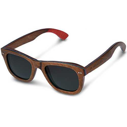 Navaris occhiali da sole in legno UV400 - 1