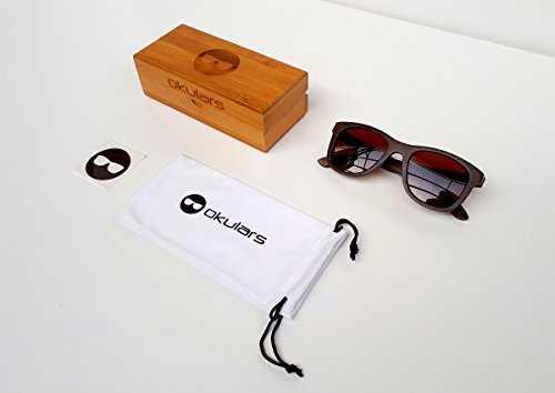 Okulars® Dark Bamboo Hazel - Occhiali in Legno di Bambù - 5