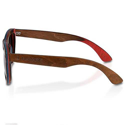 Navaris occhiali da sole in legno UV400 - 2