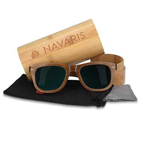 Navaris occhiali da sole in legno UV400 - 4