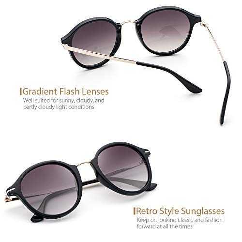 Avoalre Occhiali da Sole Vintage Style Occhiali da Sole 100% UV400 - 5
