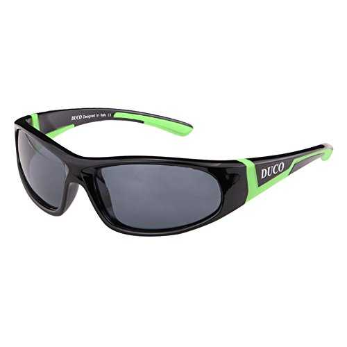DUCO Kids sport stile polarizzato occhiali da sole in gomma telaio flessibile per ragazzi e ragazze - 1