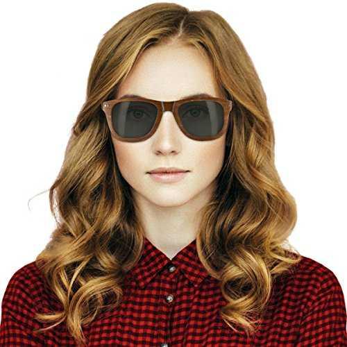 Navaris occhiali da sole in legno UV400 - 5