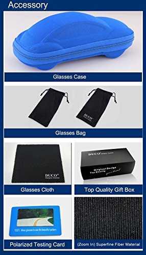 DUCO Kids sport stile polarizzato occhiali da sole in gomma telaio flessibile per ragazzi e ragazze - 8