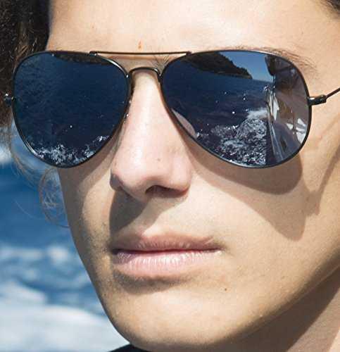 Cressi Nevada Occhiale da Sole Uomo Polarizzato, Oro/Lente Grigio - 3