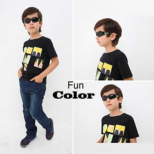 DUCO Kids sport stile polarizzato occhiali da sole in gomma telaio flessibile per ragazzi e ragazze - 4