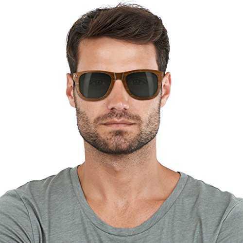 Navaris occhiali da sole in legno UV400 - 6