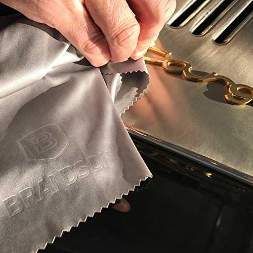 BRANDSON Panno in microfibra per la pulizia degli occhiali di qualità professionale - 8