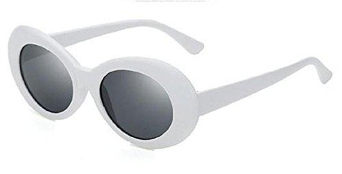 Occhiali da sole retrò bianchi - 1