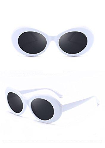 Occhiali da sole retrò bianchi - 2