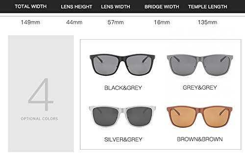 DingXW Occhiali da Sole polarizzati da Uomo UV400 - 5