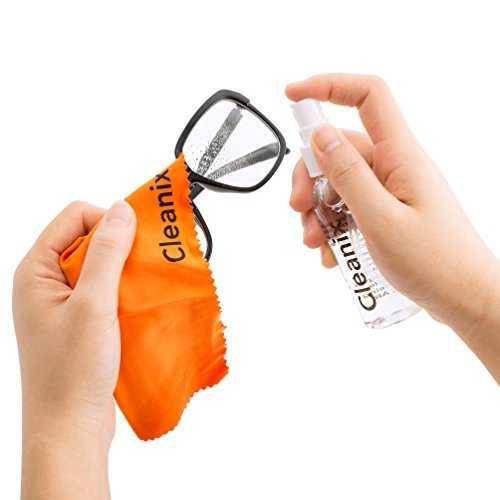 kit di pulizia detergente per occhiali da 60 ml con panno in microfibra - 3