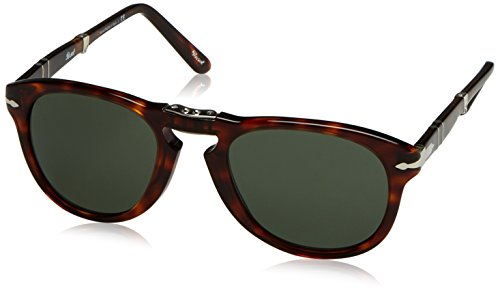 Persol Occhiali da Sole Unisex Marrone (Havana/Grey Green), 52 - 1