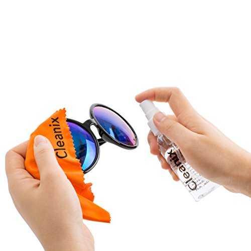 kit di pulizia detergente per occhiali da 60 ml con panno in microfibra - 4