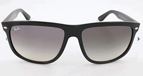Ray-Ban – Occhiali da sole Rb4147 Rettangolari, Uomo, Black frame/ Grey Gradient Lens calibro 60