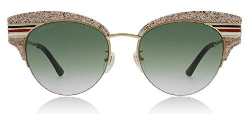 Gucci Occhiali da sole GG0283S NUDE/GREEN SHADED donna