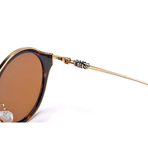Occhiali con ampia montatura tonda Vintage - 7
